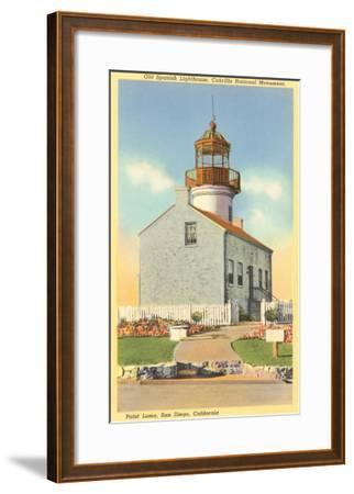 Cabrillo Lighthouse, Point Loma, San Diego, California--Framed Art Print