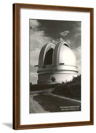 Palomar Observatory, San Diego County, California--Framed Art Print