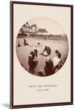 Children on Beach, Hotel del Coronado, San Diego, California--Mounted Art Print