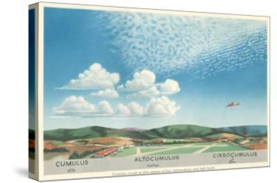 Cumulus, Altocumulus and Cirrocumulus Clouds--Stretched Canvas Print