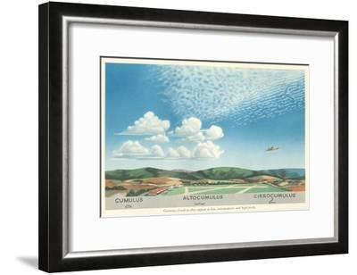 Cumulus, Altocumulus and Cirrocumulus Clouds--Framed Art Print