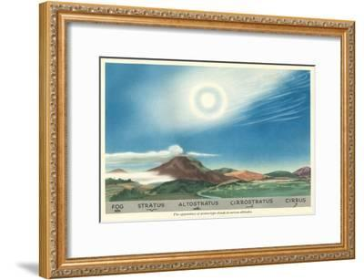 The Appearance of Clouds--Framed Art Print
