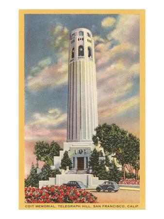 Coit Tower, Telegraph Hill, San Francisco, California--Premium Giclee Print