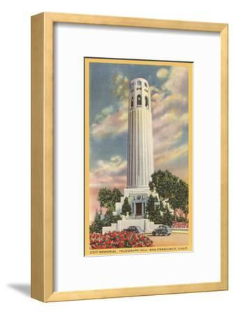 Coit Tower, Telegraph Hill, San Francisco, California--Framed Art Print