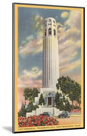 Coit Tower, Telegraph Hill, San Francisco, California--Mounted Art Print