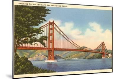Golden Gate Bridge, San Francisco, California--Mounted Art Print