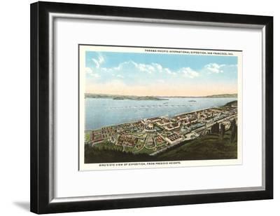 Overview of Presidio Heights, San Francisco, California--Framed Art Print