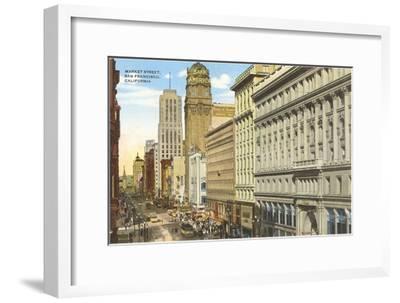 Market Street, San Francisco, California--Framed Art Print