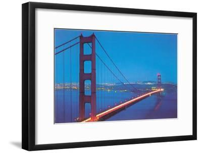 Golden Gate Bridge at Night, San Francisco, California--Framed Art Print