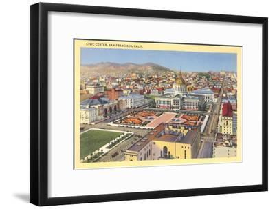 Civic Center Downtown, San Francisco, California--Framed Art Print