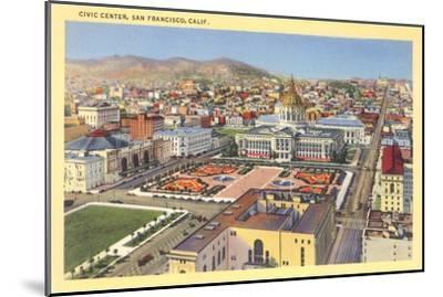 Civic Center Downtown, San Francisco, California--Mounted Art Print