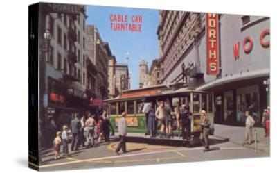 Cable Car Turn-Table, San Francisco, California--Stretched Canvas Print