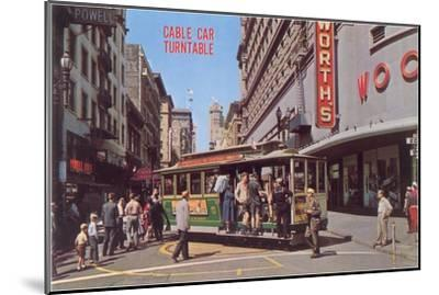 Cable Car Turn-Table, San Francisco, California--Mounted Art Print