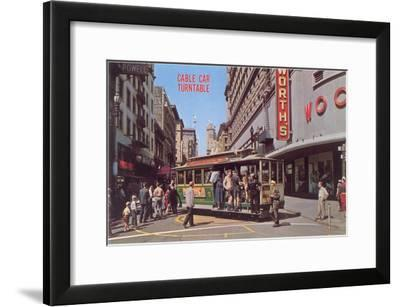 Cable Car Turn-Table, San Francisco, California--Framed Art Print