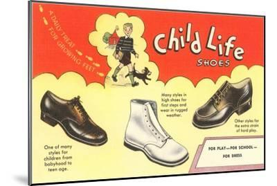 Child Life Shoes--Mounted Art Print