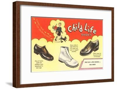 Child Life Shoes--Framed Art Print