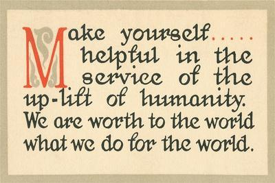 Make Yourself Helpful--Stretched Canvas Print