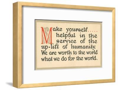 Make Yourself Helpful--Framed Art Print