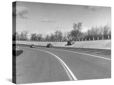 A Chevrolet Being Tested on the General Motors Testing Ground--Stretched Canvas Print