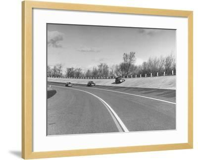 A Chevrolet Being Tested on the General Motors Testing Ground--Framed Photographic Print