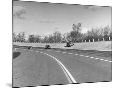 A Chevrolet Being Tested on the General Motors Testing Ground--Mounted Photographic Print