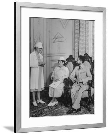 Ethiopian Royal Servant Della Hanson Talking with King Haile Selassie and  His Wife Photographic Print by | Art com
