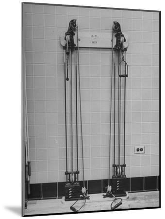 Strength Training Equipment in White House Gymnasium--Mounted Photographic Print