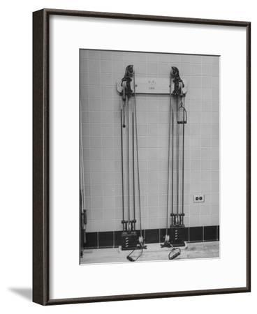 Strength Training Equipment in White House Gymnasium--Framed Photographic Print