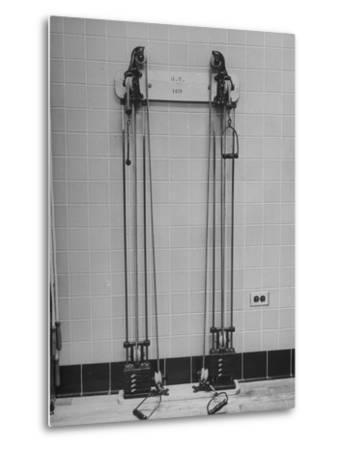 Strength Training Equipment in White House Gymnasium--Metal Print