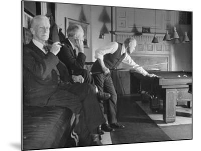 Men Relaxing in the Union Club from a Story Concerning Boston--Mounted Photographic Print