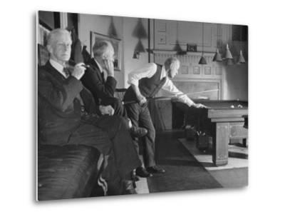 Men Relaxing in the Union Club from a Story Concerning Boston--Metal Print