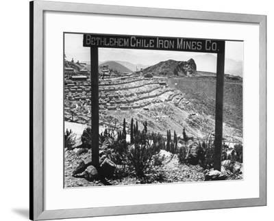 Bethlehem Chile Iron Mines Co. and Operations There, Workers' Homes, Etc--Framed Photographic Print
