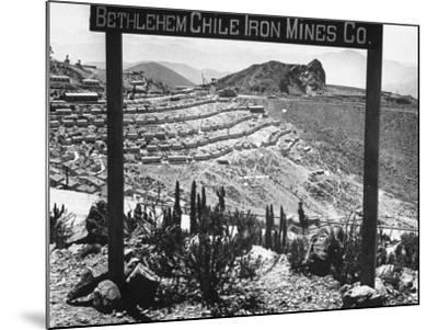 Bethlehem Chile Iron Mines Co. and Operations There, Workers' Homes, Etc--Mounted Photographic Print