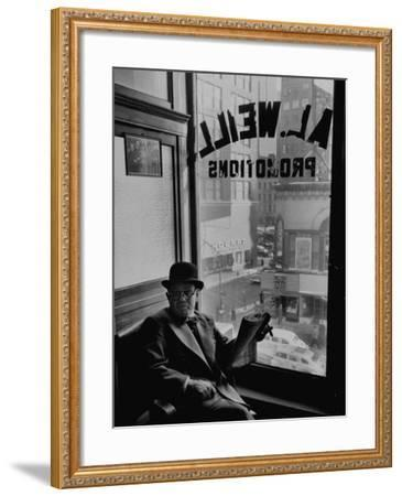 Hangout for Charlie Goldman Is a Matchmaker Weills Office on Broadway--Framed Photographic Print