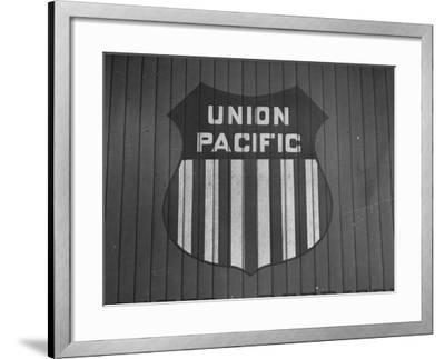 Union Pacific Boxcar Showing Logo--Framed Photographic Print