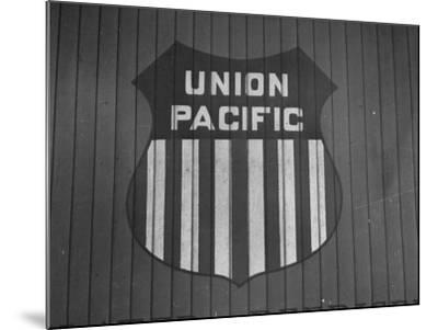 Union Pacific Boxcar Showing Logo--Mounted Photographic Print