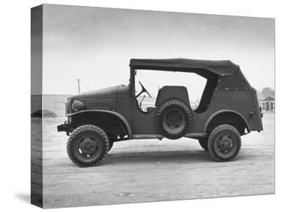 Side View of Command Car--Stretched Canvas Print