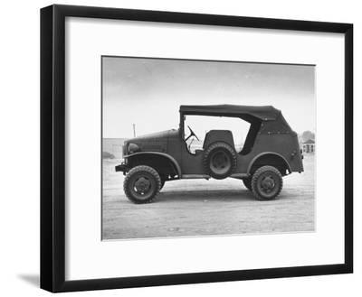 Side View of Command Car--Framed Photographic Print