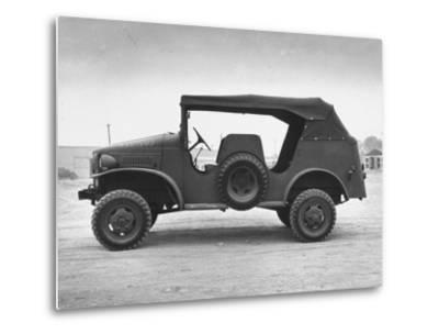 Side View of Command Car--Metal Print