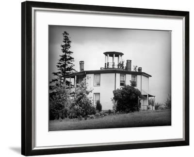 Exterior View of Octagonal House in the Hudson River Valley--Framed Photographic Print