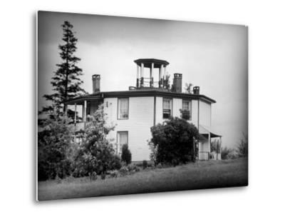 Exterior View of Octagonal House in the Hudson River Valley--Metal Print