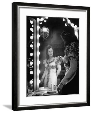 Opera Singer Nadine Connor Posing in Costume--Framed Photographic Print