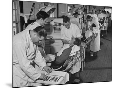 Dentists Working on Soldiers at the Ft. Meade and Walter Reed Dental Hospital--Mounted Photographic Print