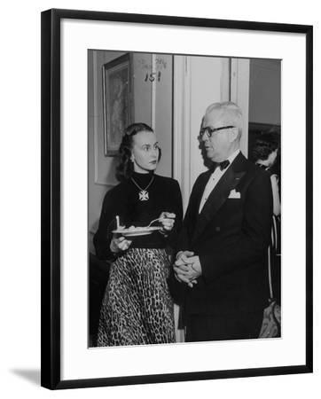 "Mrs. Austine Cassini and James K. ""Jake"" Vardaman Talking During a Social Function--Framed Photographic Print"
