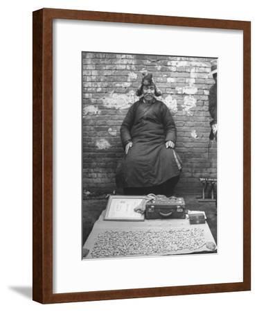 Street Dentist Who Pulls Teeth--Framed Photographic Print