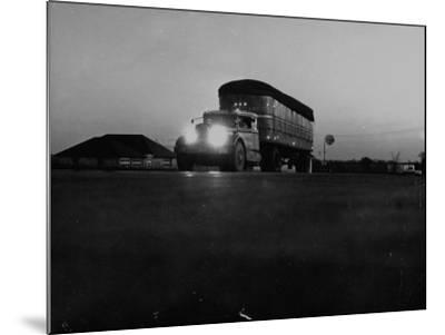 Middle Atlantic Transportation Truck on the Road at Daybreak--Mounted Photographic Print