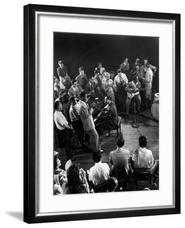 """Composer-Pianist-Arranger Duke Ellington Playing """"Don't Get around Much Anymore""""--Framed Photographic Print"""