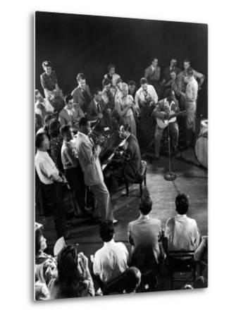 """Composer-Pianist-Arranger Duke Ellington Playing """"Don't Get around Much Anymore""""--Metal Print"""