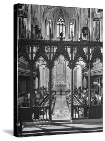 An Interior View of the National Cathedral--Stretched Canvas Print