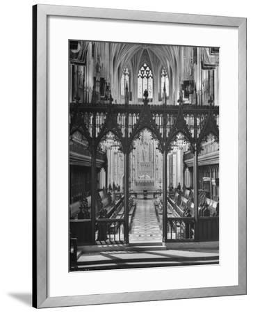 An Interior View of the National Cathedral--Framed Photographic Print